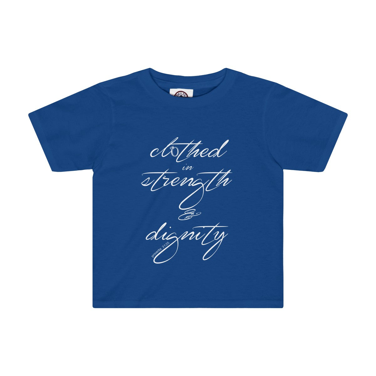 Odyssey Clothed In Strength and Dignity Kids Tee - Dark