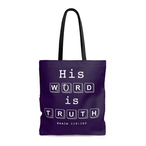 Odyssey His Word Is Truth Tote Bag - Purple