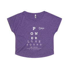 Odyssey Power Love Sound Mind Women's Off The Shoulder Tee