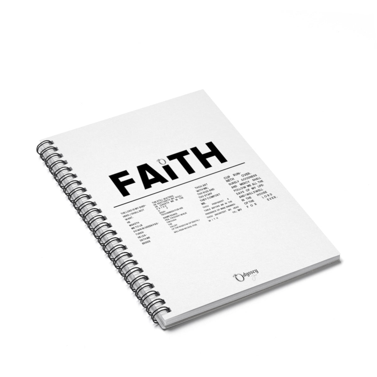 Odyssey Faith Over Fear Spiral Notebook - Paper products - Odyssey By Yendi