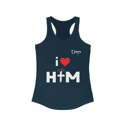 Odyssey I Love Him Women's Racerback Tank Top
