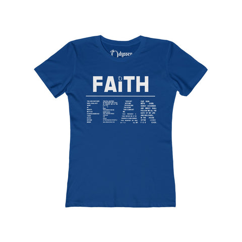 Odyssey Faith Over Fear Women's Tee - Dark