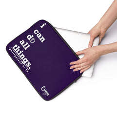 Odyssey I Can Do Laptop Sleeve - Purple