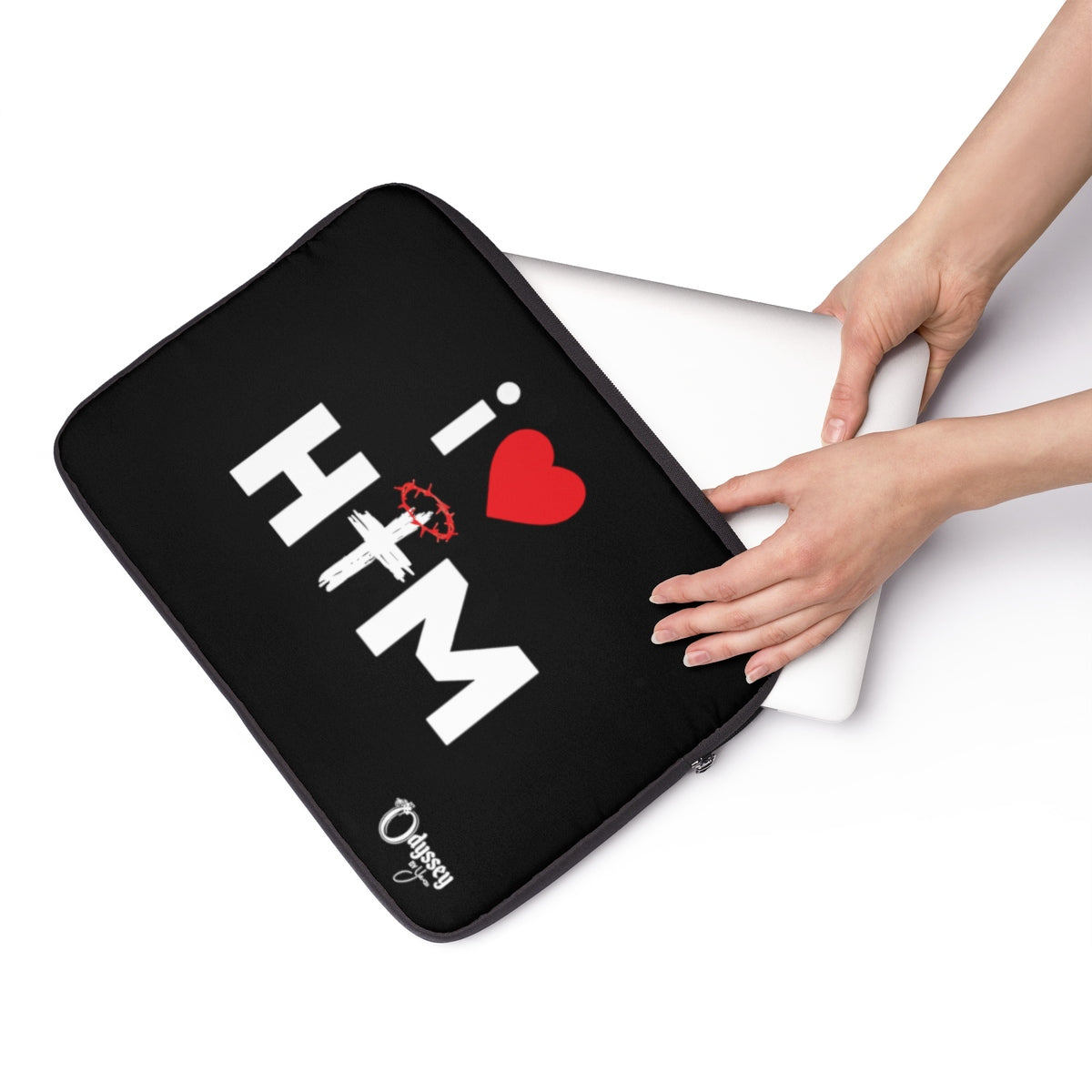 Odyssey I Love Him Laptop Sleeve - Black