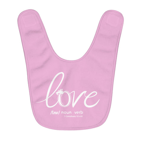 Odyssey Love Fleece Baby Bib - Pink - Kids clothes - Odyssey By Yendi