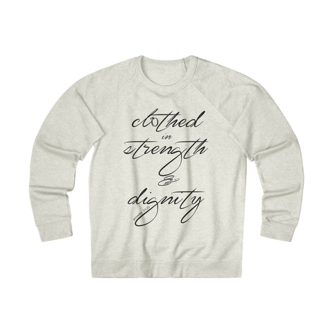 Odyssey Clothed In Strength And Dignity Women's Crewneck Sweatshirt