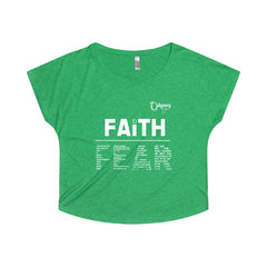 Odyssey Faith Over Fear Women's Off The Shoulder Tee