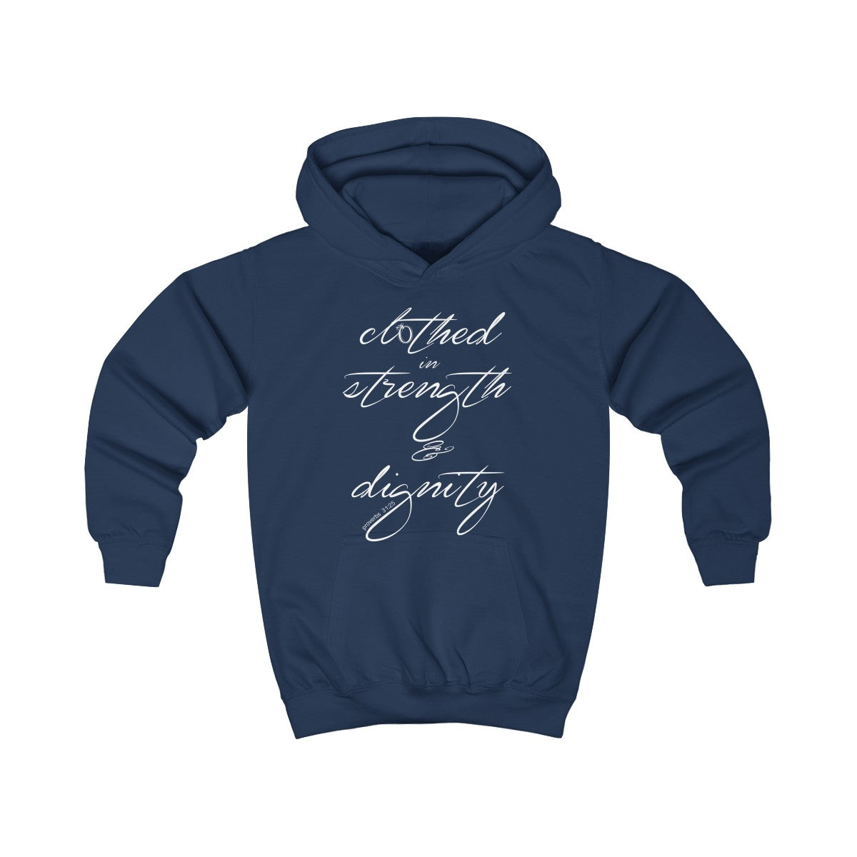 Odyssey Clothed In Strength And Dignity Kids Hoodie
