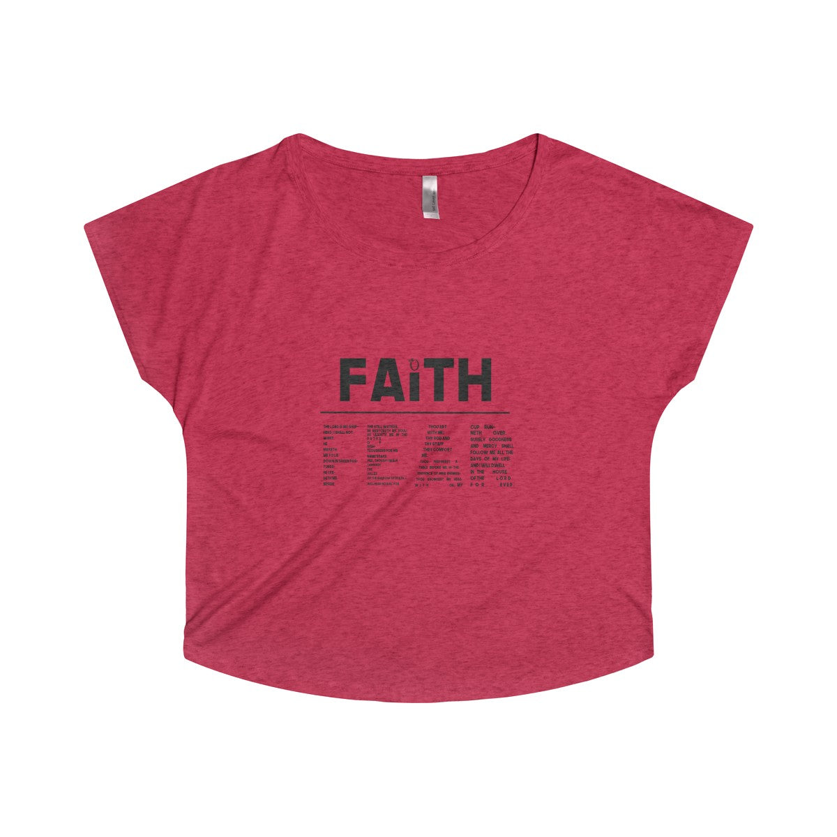 Odyssey Faith Over Fear Women's Off-the Shoulder - Black