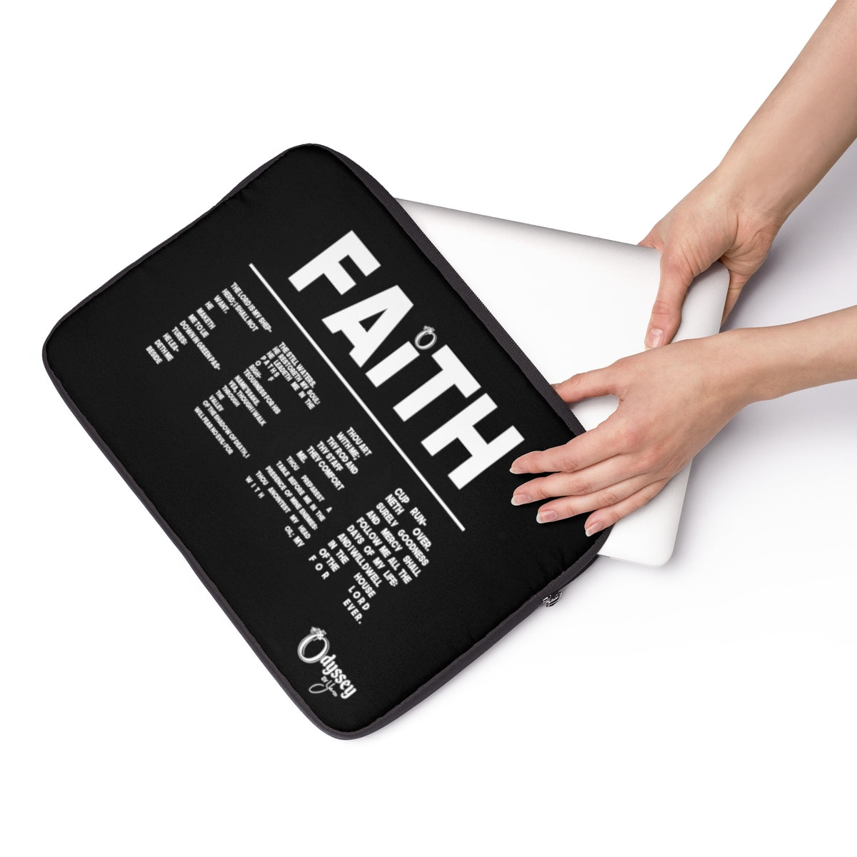 Odyssey Faith Over Fear Laptop Sleeve - Black