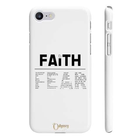 Odyssey Faith Over Fear Slim Phone Cases - Phone Case - Odyssey By Yendi
