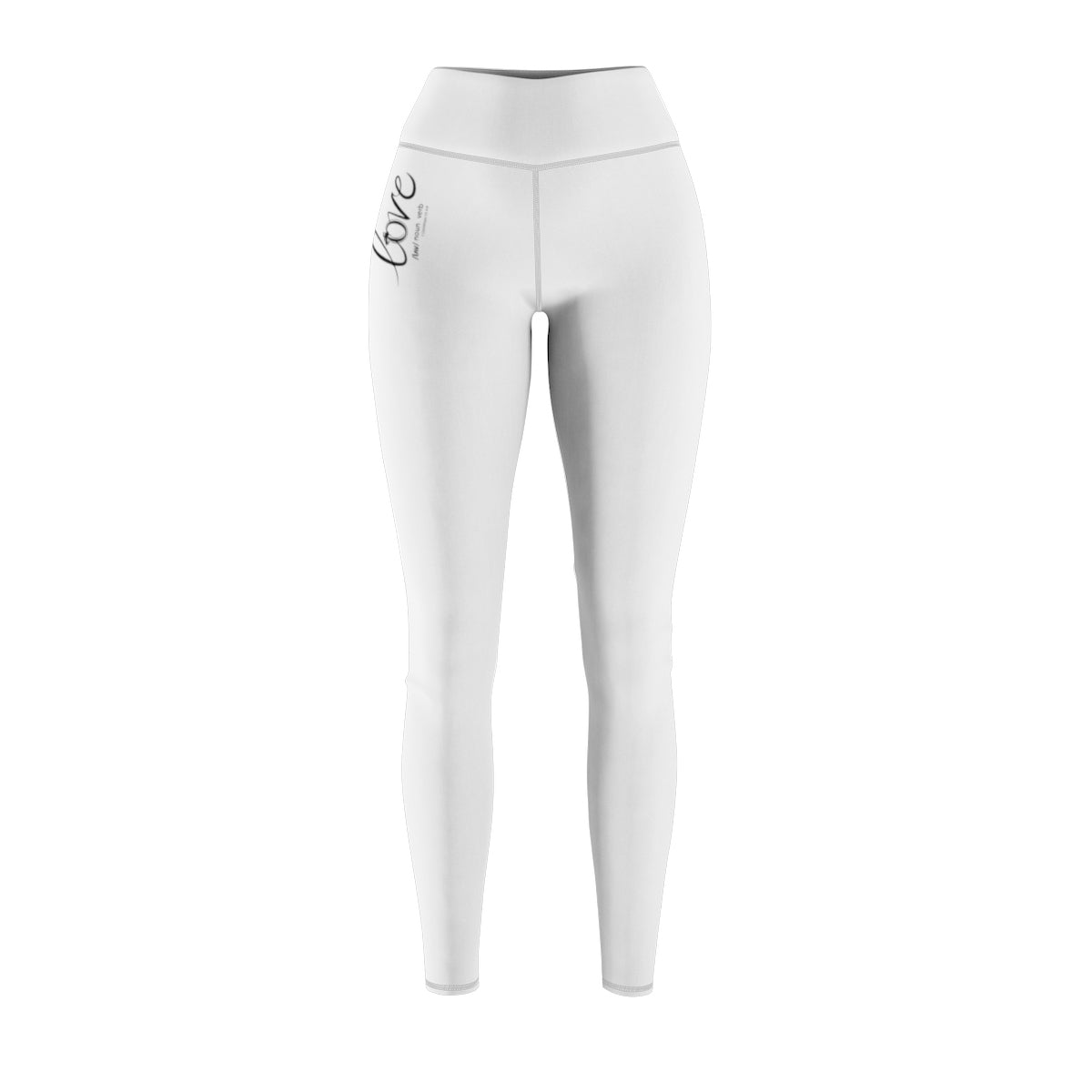 Odyssey Women's Love Sport Leggings - White - All Over Prints - Odyssey By Yendi
