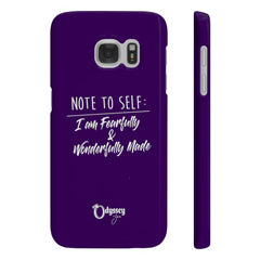 Odyssey Note To Self Slim Phone Cases - Purple - Phone Case - Odyssey By Yendi