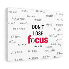 Odyssey Don't Lose Focus Canvas - White