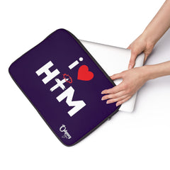 Odyssey I Love Him Laptop Sleeve - Purple