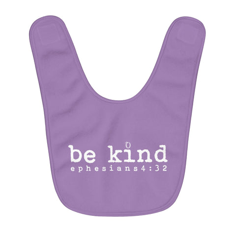 Odyssey Be Kind Fleece Baby Bib - Purple - Kids clothes - Odyssey By Yendi
