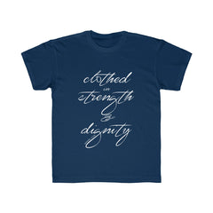 Odyssey Clothed In Strength And Dignity Kids Tee