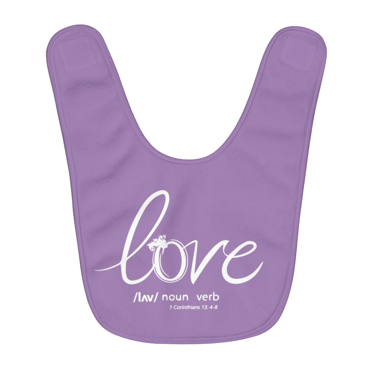 Odyssey Love Fleece Baby Bib - Purple - Kids clothes - Odyssey By Yendi