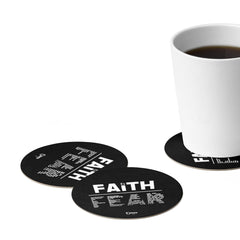Odyssey Faith Over Fear Paper Coaster Set - 6pcs - Home Decor - Odyssey By Yendi