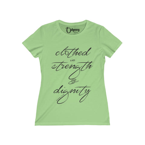 Odyssey Clothed in Strength and Dignity Women's  Tee - Light