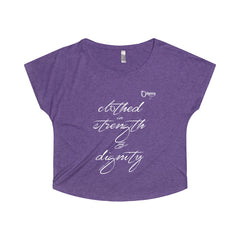 Odyssey Clothed In Strength And Dignity Women's Off The Shoulder Tee