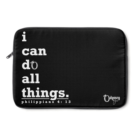 Odyssey I Can Do Laptop Sleeve - Black