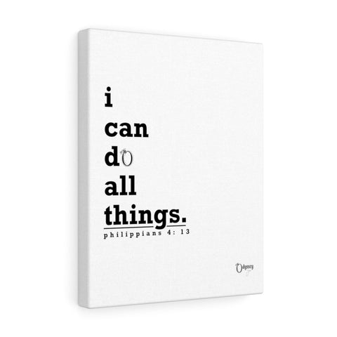 Odyssey I Can Do Canvas - White