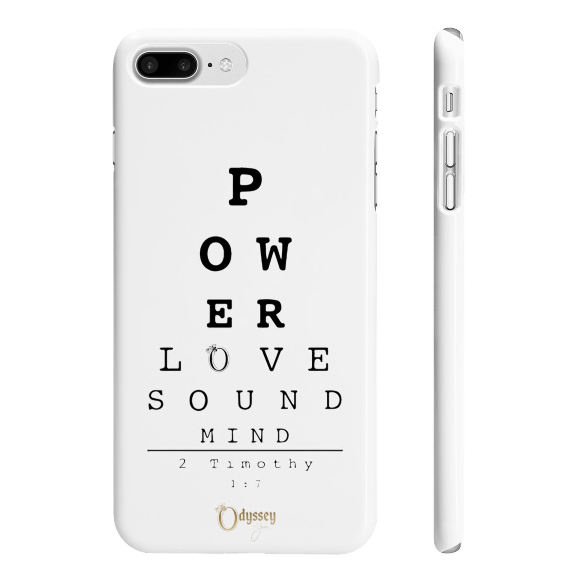 Odyssey Power, Love and Sound Mind Slim Phone Cases - Phone Case - Odyssey By Yendi