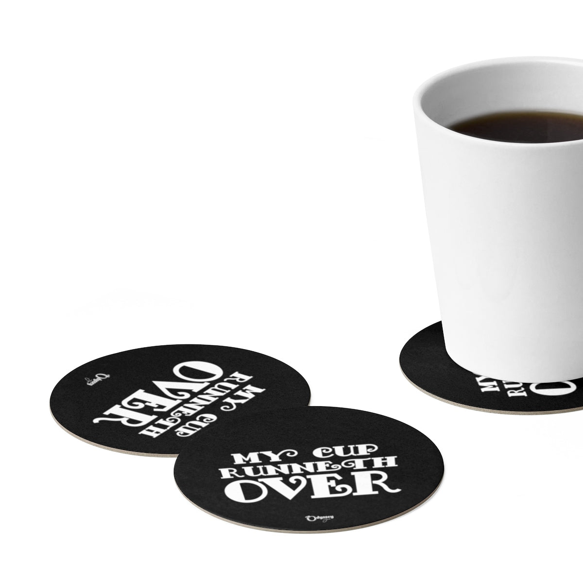 Odyssey My Cup Runneth Over Paper Coaster Set - 6pcs - Home Decor - Odyssey By Yendi