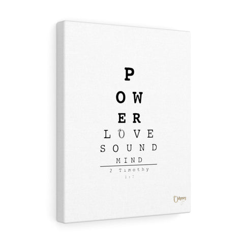 Odyssey Power Love Sound Mind Canvas - White