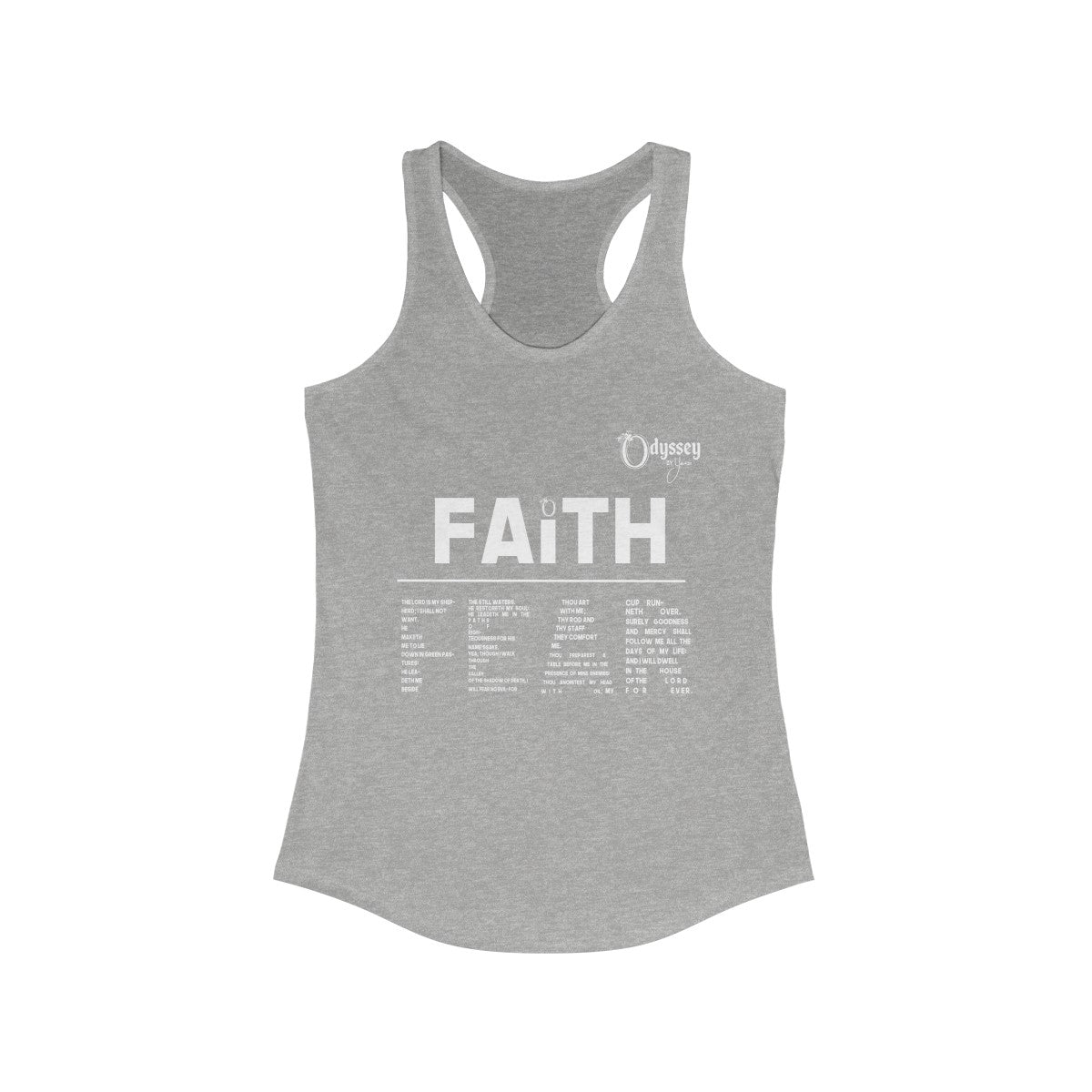 Odyssey Faith Over Fear Women's Racerback Tank Top