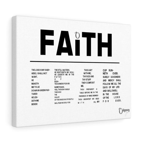 Odyssey Faith Over Fear Canvas - White