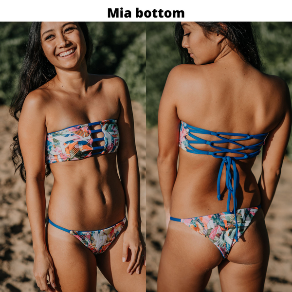 MIA bottom - Wild Flowers + Pink Stripes