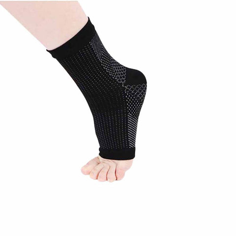1 Pair Outdoor Men Women Running Cycle Soccer Basketball Sports Foot Angel Anti Fatigue Compression Foot Sleeve Sock 3 Colors j2