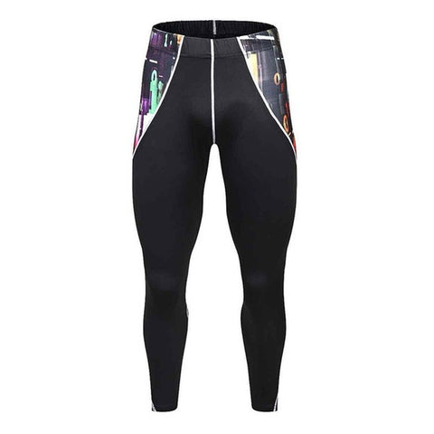 Men Pants Fitness Joggers Compression Tights Long Pants Leggings Mens Wear Elastic Trousers