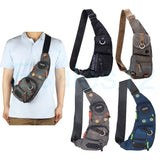 Men's Women's Nylon Sling Chest Bag Shoulder Bag Outdoor Hiking Bicycle Backpack