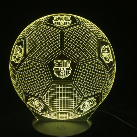 7 Colors Football 3D Led Night Lights USB Football Table Lamp Soccer Lampara Home Decor Bedroom Sleep Nightlight