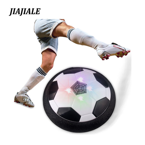 Air Power Soccer Football LED Light Flashing Ball Toys Disc Gliding Multi-surface Hovering Football Game Gift for Kid Chidren