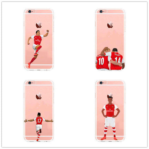 Alexis Sanchez Arsenal  Soccer Sports Phone Case For iphone SE 5 5s 6s 7 7plus Transparent Back Cover