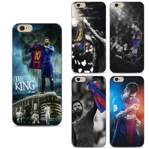 Barcelona Messi Ronaldo Neymar Soccer Football Star King Soft Silicon TPU Case Cover For iphone X 8 7 Plus 7 6 6S Plus 5 5S SE