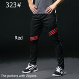 Gym Running Pants for Men Athletic Football pants Soccer Training Pants Fitness Workout Jogging Quick Dry Running Sport Trousers