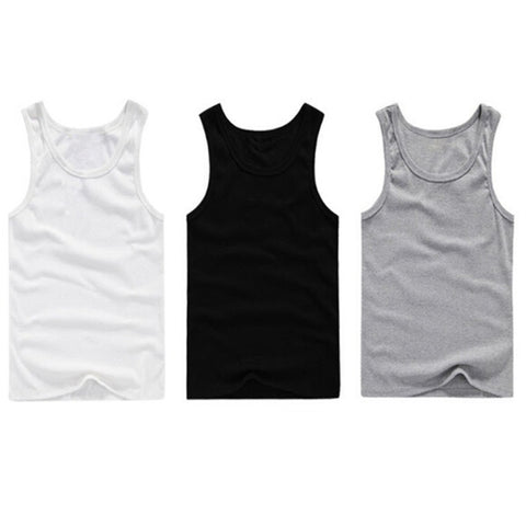 Mens Boys Tank Top Muscle Sleeveless T-shirts Sportwear Vest Undershirts chenchen