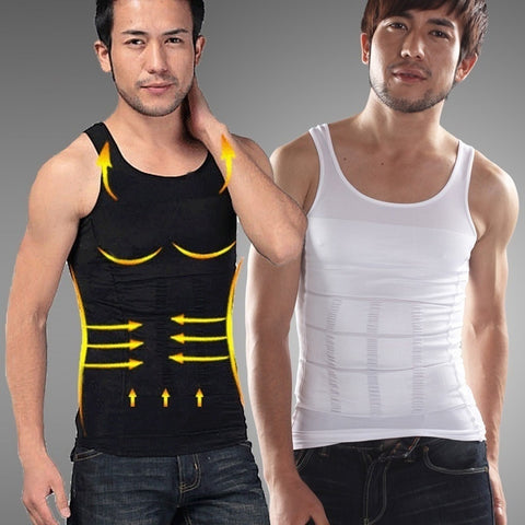 Men Slim Body Shaper Waist Abdomen Underwear Less Beer Belly Compression Men Sport Vest 1PC