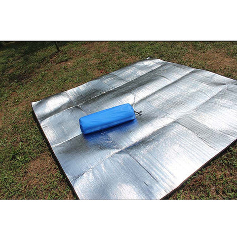 aluminum camping mat with center pad