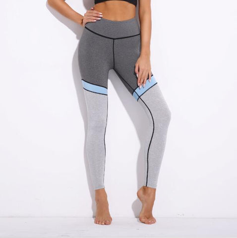 Two Tone Grey-Blue Leggings