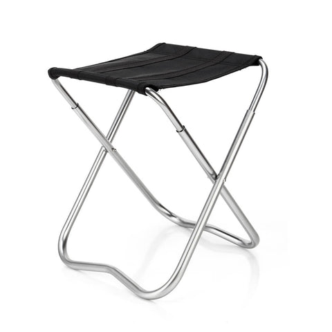 folding aluminum stool
