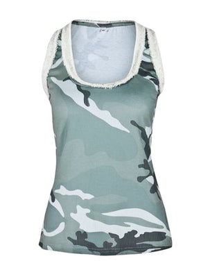 Camo Green Distressed Tank