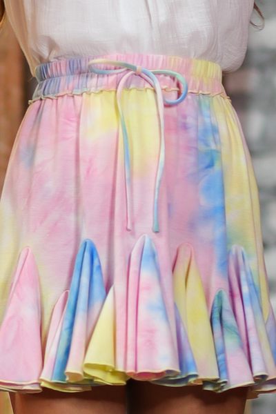High Waist Ruffle Tie Dye Skirt