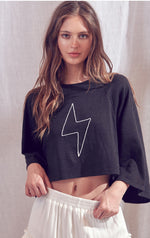 Lightening Bolt Crop Top