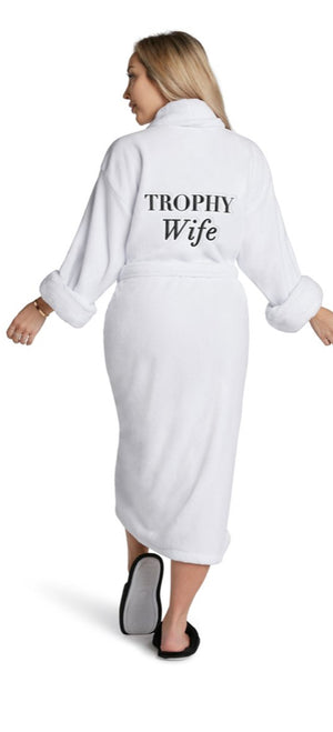 Trophy Wife Plush Robe